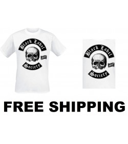 Black Label Society Skull Logo Official T-Shirt White Weiß Free Shipping