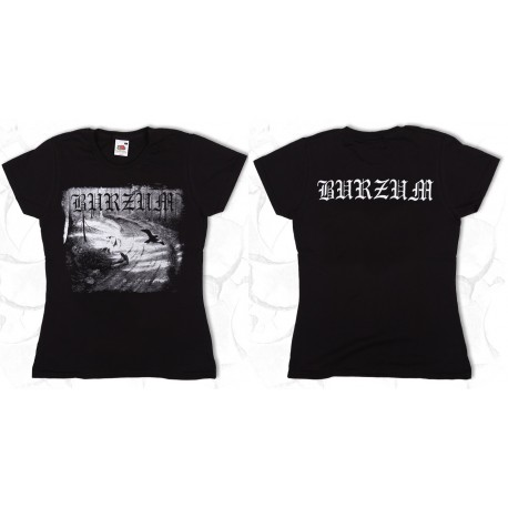 BURZUM Hvis Lyset Tar Oss Girly Women T-Shirt OFFICIAL BLACK T-SHIRT