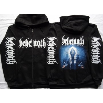BEHEMOTH Ecclesia Diabolica Black Metal Hoodie Zipper Kapuzenjacke Zip