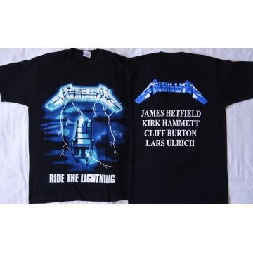 METALLICA Ride the Lightning Official T-shirt