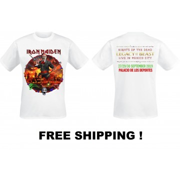 IRON MAIDEN Nights Of The Dead Legacy Of The Beast Live In Mexico T-SHIRT Free Shipping !