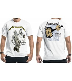 METALLICA Official And Justice For All White Official T-Shirt