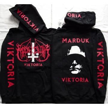 MARDUK VICTORIA Panzer Division Marduk BLACK FUCKING METAL Official Zipper Hoodie