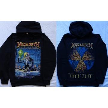Megadeth Rust in Peace 20th Twentieth Anniversary Official Hoodie Kapuzenjacke All Print