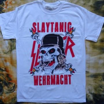 Slayer Slaytanic Wehrmacht Free Shipping Thrash Metal Band Retro 1988 White New T-Shirt