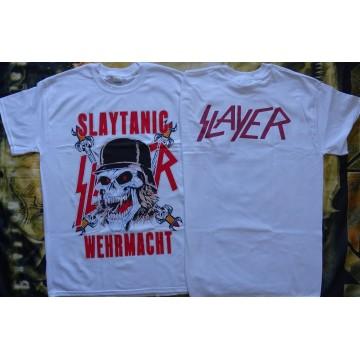 Slayer Slaytanic Wehrmacht Free Shipping Thrash Metal Band Retro 1988 White New T-Shirt Front & Back