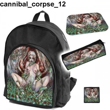 CANNIBAL CORPSE Set school backpack pencil case + free mouse pad and patch