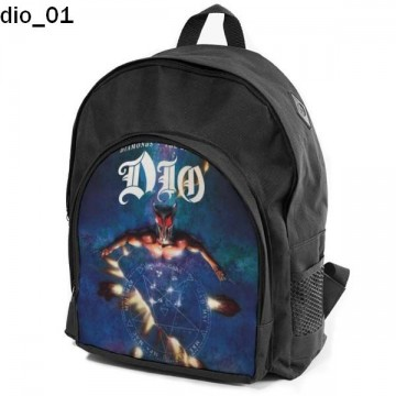 DIO Set school backpack pencil case + free mouse pad and patch