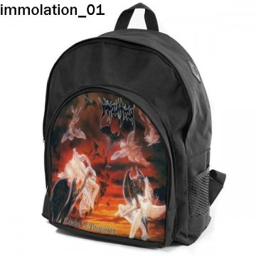IMMOLATION Set school backpack pencil case + free mouse pad and patch